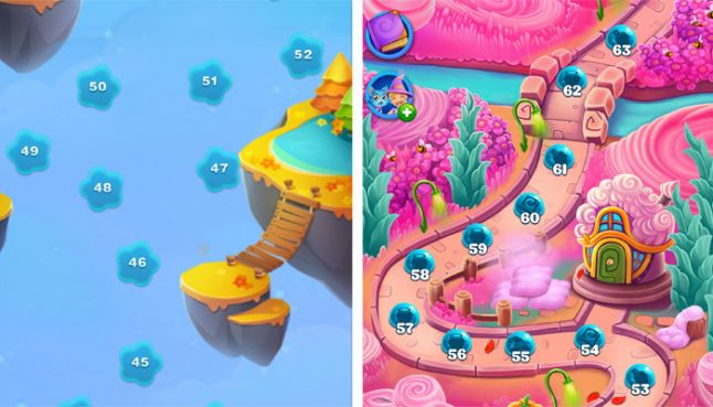 Why Eastern and Western mobile game map screens are so different